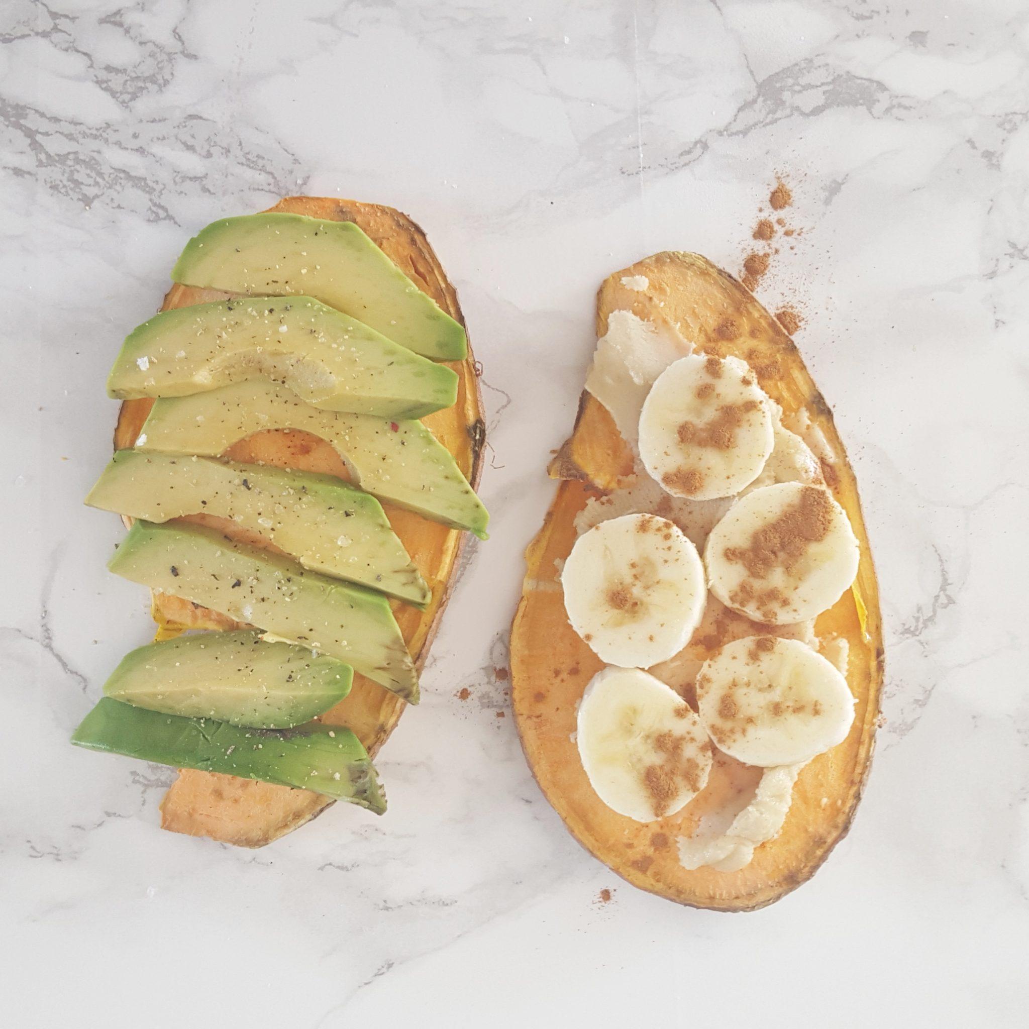 Zoete aardappel toast